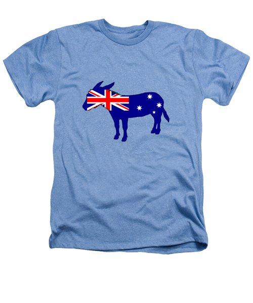 Australian Flag - Donkey Heathers T-Shirt by Mordax Furittus