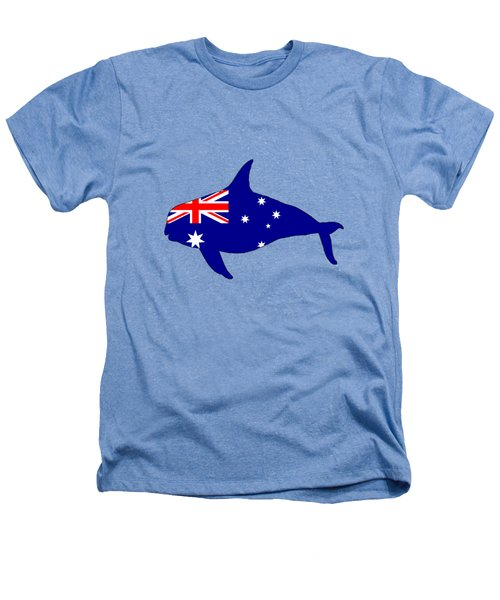 Australian Flag - Killer Whale / Grampus / Orca Heathers T-Shirt by Mordax Furittus