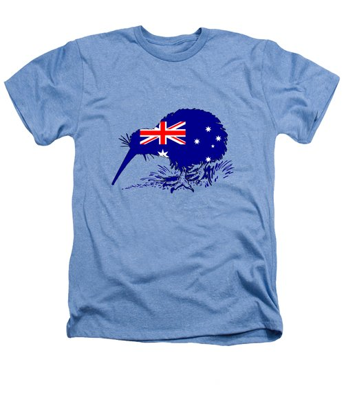 Australian Flag - Kiwi Bird Heathers T-Shirt by Mordax Furittus