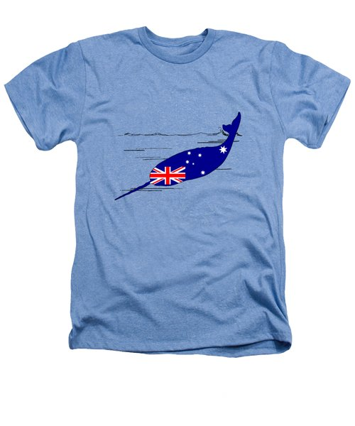 Australian Flag - Narwhal Heathers T-Shirt by Mordax Furittus