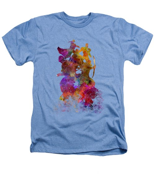 Avengers 02 In Watercolor Heathers T-Shirt