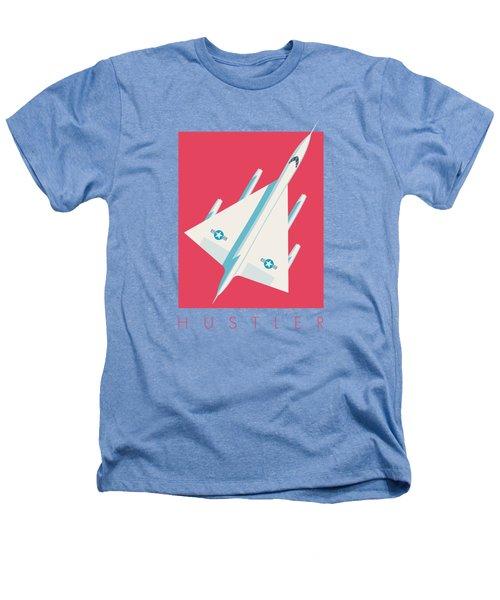 B-58 Hustler Supersonic Jet Bomber - Crimson Heathers T-Shirt