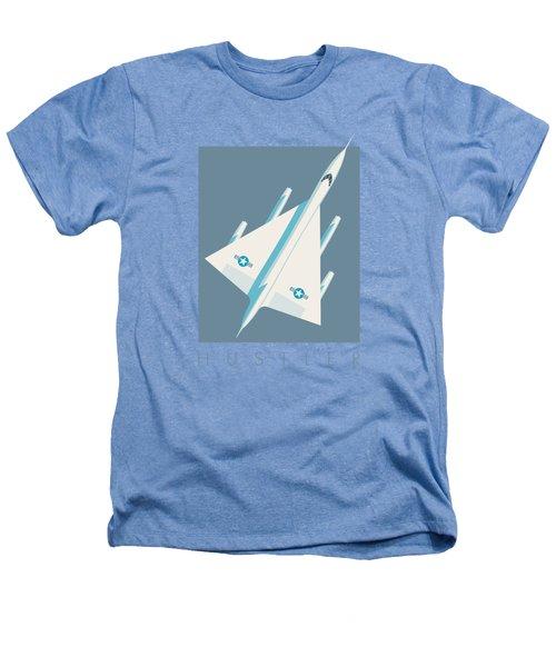 B-58 Hustler Supersonic Jet Bomber - Slate Heathers T-Shirt