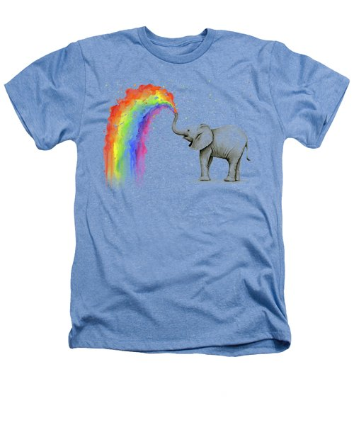 Baby Elephant Spraying Rainbow Heathers T-Shirt