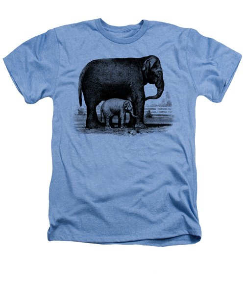 Baby Elephant T-shirt Heathers T-Shirt by Edward Fielding