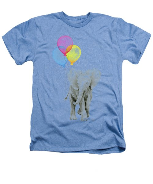 Baby Elephant With Baloons Heathers T-Shirt by Olga Shvartsur