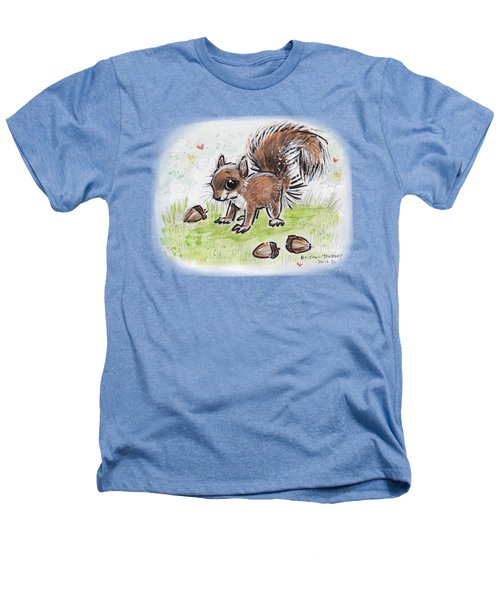Baby Squirrel Heathers T-Shirt by Maria Bolton-Joubert