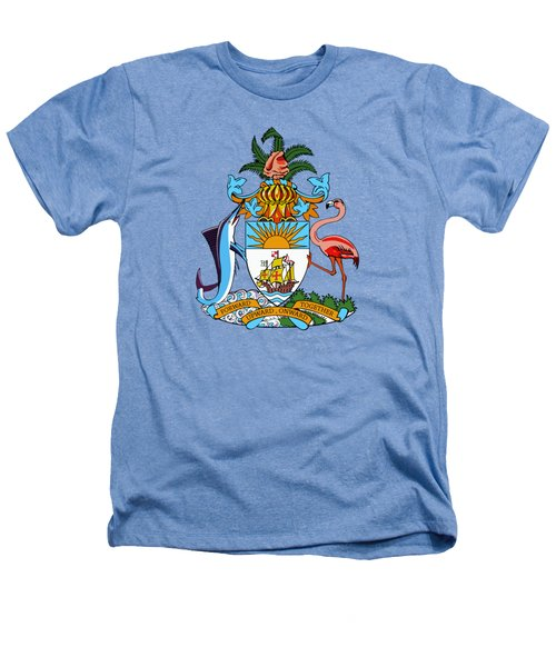 Bahamas Coat Of Arms Heathers T-Shirt by Movie Poster Prints