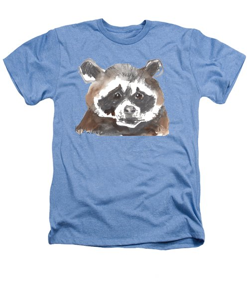 Bandit Raccoon Heathers T-Shirt by Kathleen McElwaine