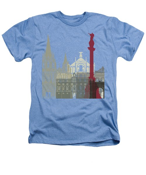 Barcelona Skyline Poster Heathers T-Shirt by Pablo Romero