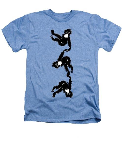 Barrel Full Of Monkeys T-shirt Heathers T-Shirt by Edward Fielding