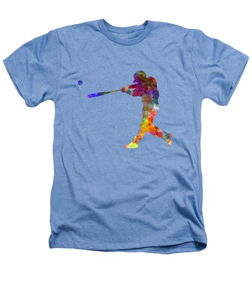 Baseball Player Hitting A Ball 02 Heathers T-Shirt by Pablo Romero