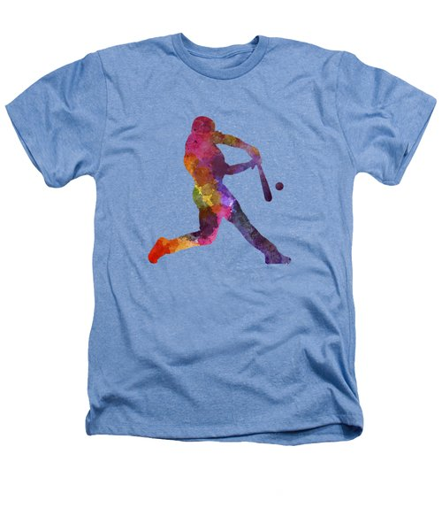 Baseball Player Hitting A Ball Heathers T-Shirt