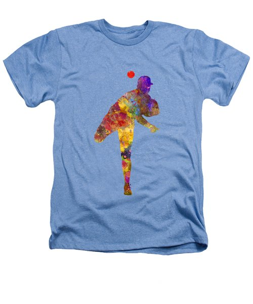 Baseball Player Throwing A Ball Heathers T-Shirt by Pablo Romero