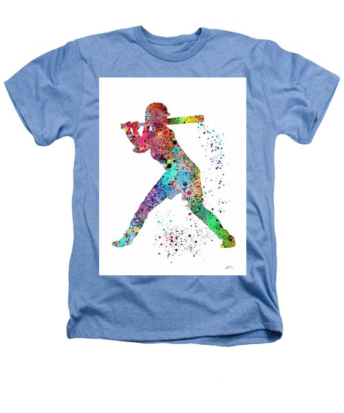 Baseball Softball Player Heathers T-Shirt by Svetla Tancheva