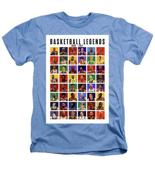 Basketball Legends Heathers T-Shirt by Semih Yurdabak