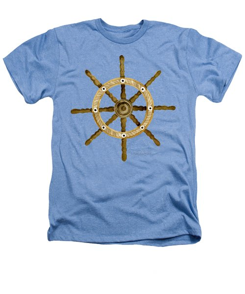 Beach House Nautical Boat Ship Anchor Vintage Heathers T-Shirt by Audrey Jeanne Roberts