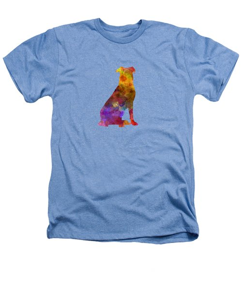 Beauceron In Watercolor Heathers T-Shirt by Pablo Romero