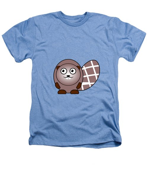 Beaver - Animals - Art For Kids Heathers T-Shirt by Anastasiya Malakhova