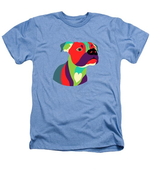 Bennie The Boxer Dog - Wpap Heathers T-Shirt by SharaLee Art