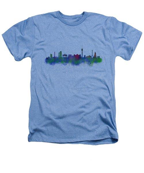 Berlin City Skyline Hq 2 Heathers T-Shirt by HQ Photo