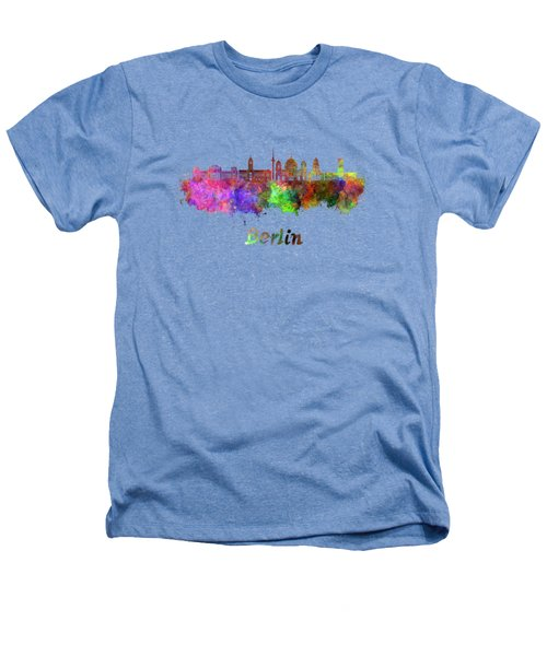 Berlin V2 Skyline In Watercolor Heathers T-Shirt