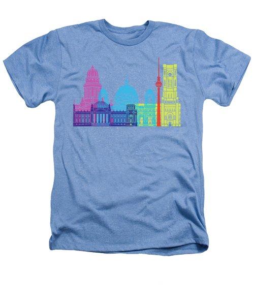 Berlin V2 Skyline Pop Heathers T-Shirt by Pablo Romero