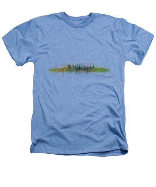 Beverly Hills City In La City Skyline Hq V3 Heathers T-Shirt by HQ Photo