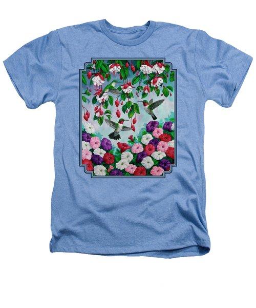 Bird Painting - Hummingbird Heaven Heathers T-Shirt