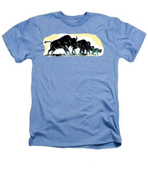 Bison Prairie Run Heathers T-Shirt by Aliceann Carlton