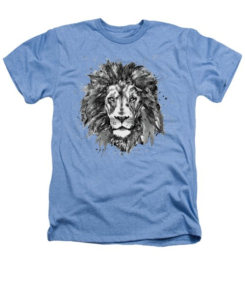 Black And White Lion Head  Heathers T-Shirt by Marian Voicu
