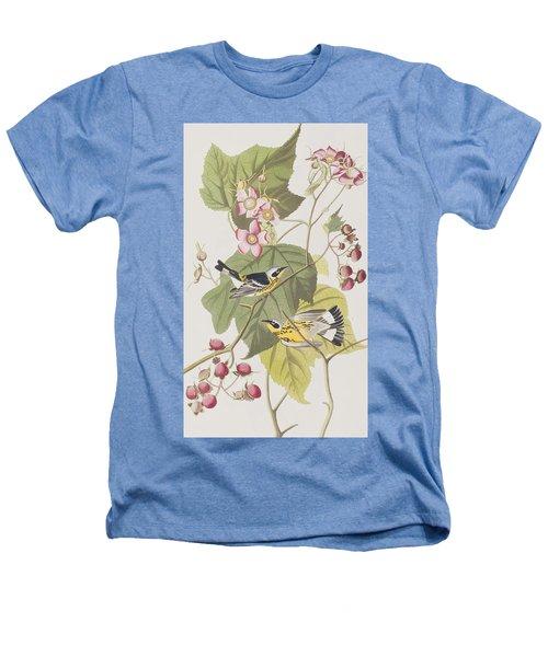 Black And Yellow Warblers Heathers T-Shirt by John James Audubon