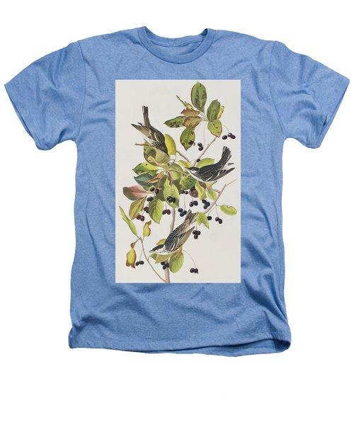 Black Poll Warbler Heathers T-Shirt by John James Audubon