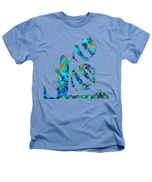 Blue Angels Fish Art By Sharon Cummings Heathers T-Shirt by Sharon Cummings