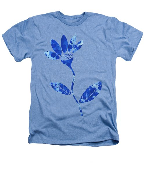 Blue Flower Heathers T-Shirt by Frank Tschakert