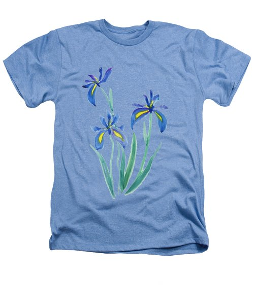 Blue Iris Heathers T-Shirt by Color Color