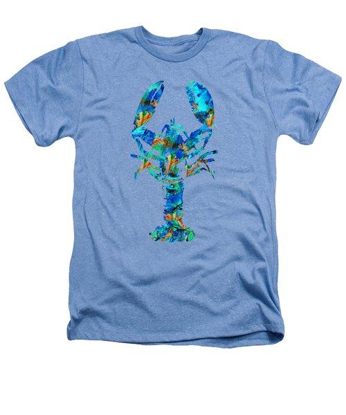 Blue Lobster Art By Sharon Cummings Heathers T-Shirt by Sharon Cummings