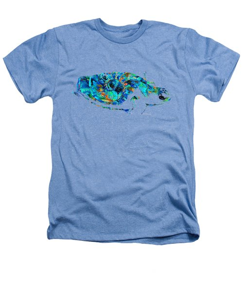 Blue Sea Turtle By Sharon Cummings  Heathers T-Shirt by Sharon Cummings