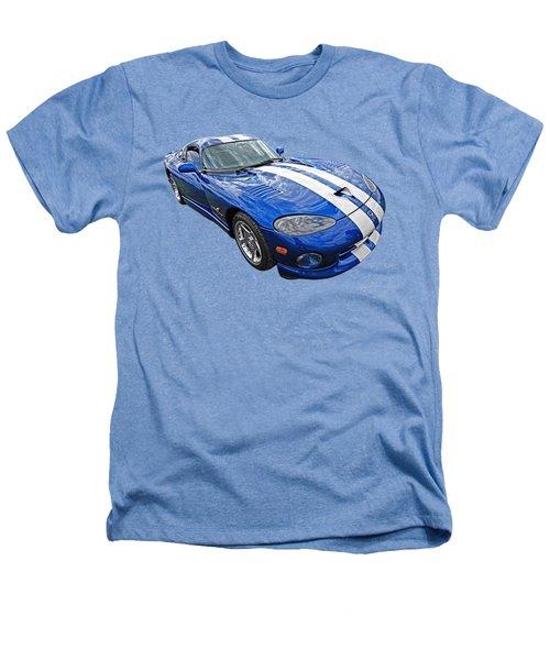 Blue Viper Heathers T-Shirt by Gill Billington