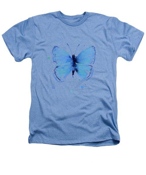 Blue Watercolor Butterfly Heathers T-Shirt