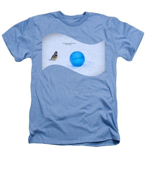 Blue Winter Heathers T-Shirt by Linda Troski