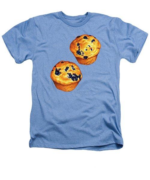 Blueberry Muffin Pattern Heathers T-Shirt by Kelly Gilleran