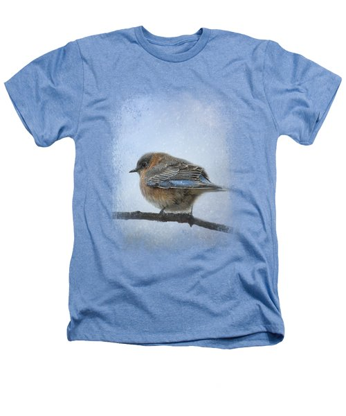 Bluebird In The Snow Heathers T-Shirt by Jai Johnson