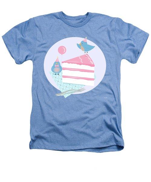 Bluebirds Love Birthday Cake Heathers T-Shirt