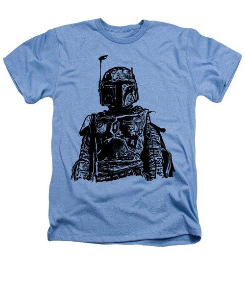Boba Fett From The Star Wars Universe Heathers T-Shirt by Edward Fielding