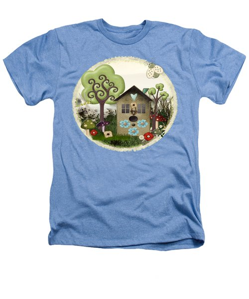 Bonnie Memories Whimsical Mixed Media Heathers T-Shirt by Sharon and Renee Lozen