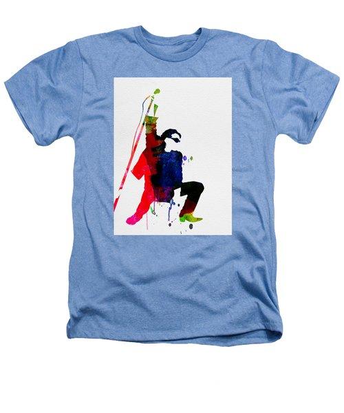 Bono Watercolor Heathers T-Shirt by Naxart Studio