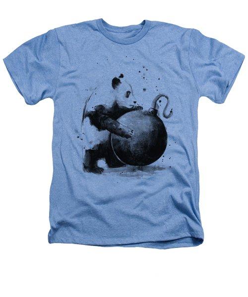 Boom Panda Heathers T-Shirt by Olga Shvartsur
