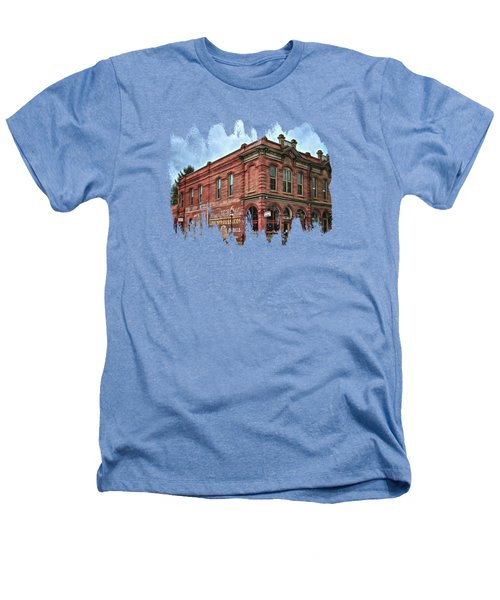 Boomtown Saloon Jacksonville Oregon Heathers T-Shirt by Thom Zehrfeld