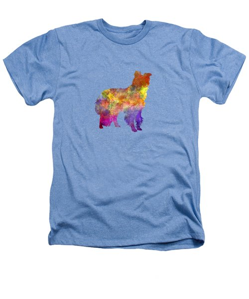 Border Collie In Watercolor Heathers T-Shirt